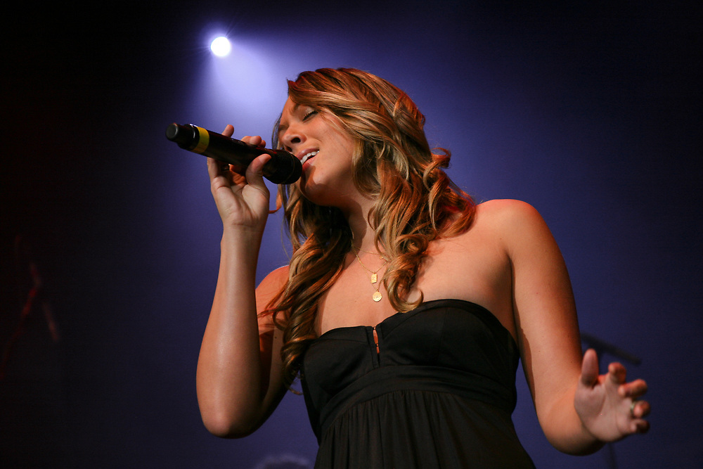 Colbie Caillat performing at The Agganis Arena in Boston.