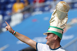 SAMARA, June 21, 2018  A fan cheers prior to the 2018 FIFA World Cup Group C match between Denmark and Australia in Samara, Russia, June 21, 2018. (Credit Image: © Fei Maohua/Xinhua via ZUMA Wire)
