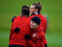 CARDIFF, WALES - Monday, November 19, 2018: Wales' Ben Woodburn during a training session at the Vale Resort ahead of the International Friendly match between Albania and Wales. (Pic by David Rawcliffe/Propaganda)