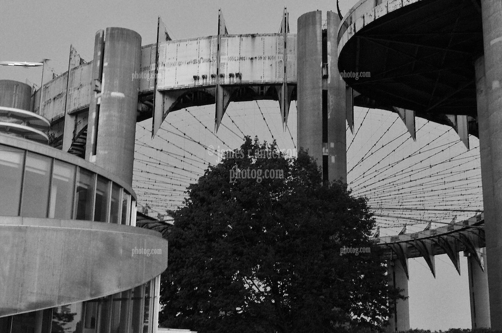 The aging & rusting New York State Pavilion. One of the remaining relics of the New York Worlds Fair 1964-65