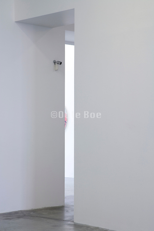 door opening with a small security camera