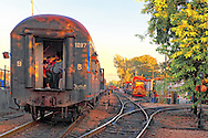 Morning train in Bayamo, Granma, Cuba.