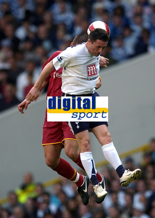 Photo: Olly Greenwood.<br />Tottenham Hotspur v Reading. The Barclays Premiership. 01/04/2007. Spurs Robbie Keane and Reading's Ivar Ingimarsson