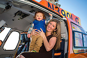 Brittany Gilbert and son Leo, sit in the new B3E.
