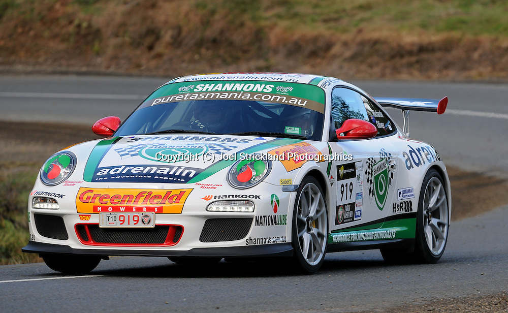 #919 - Jim Richards & Barry Oliver - 2010 Porsche 911 GT3 RS.Day 2.Targa Tasmania 2010.29th of April 2010.(C) Joel Strickland Photographics.Use information: This image is intended for Editorial use only (e.g. news or commentary, print or electronic). Any commercial or promotional use requires additional clearance.