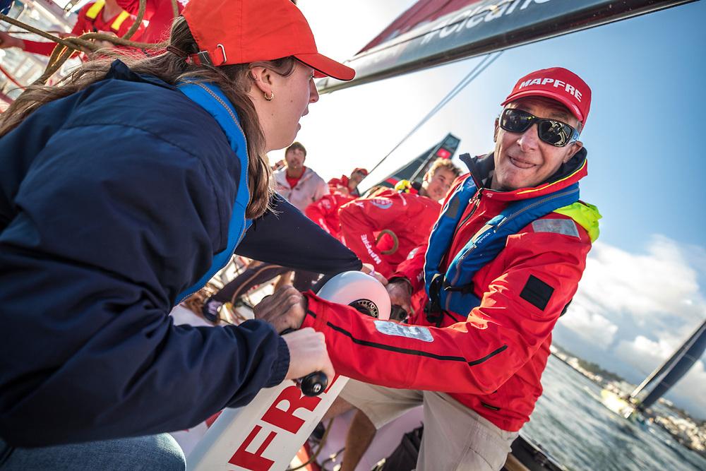 Lisbon stopover, Pro-Am race 3 on board Mapfre Photo by Ugo Fonolla/Volvo Ocean Race. 02 November, 2017.