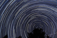 North View Star Trails. Summer Night in New Jersey. Image taken with a Nikon D3s and 24 mm f/1.4G lens (ISO 400, 24 mm, f/4, 30 sec). Composite of 326 images combined using the Startrails program.