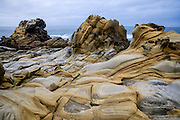 Tafoni Sandstone formations at Salt Point State Park, Sonoma County, near Jenner, California
