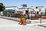 13-02-2016 -  Foto Cullinan diamantmijn: werknemers. Genomen tijdens tour bij Petra Cullinan Diamantmijn in Cullinan, Zuid-Afrika.