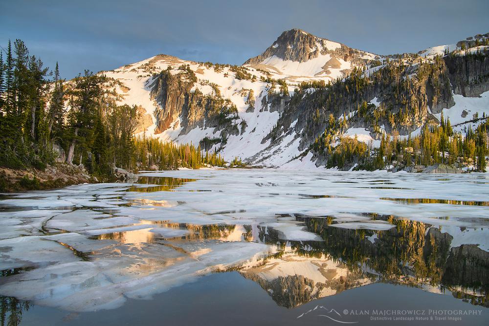 Eagle Cap reflected in Mirror Lake, Eagle Cap Wilderness Oregon