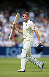 England's Jonny Bairstow walks off at the end of the innings after scoring 50 during day four of the First Investec Test match at Lord's, London.