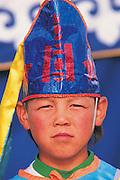 Jockey<br /> Naadam festival horse race<br /> Jockey's aged 4-12 years and most often girls<br /> Ulaanbaatar race track<br /> Mongolia