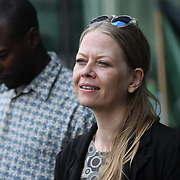 Speaker Sian Berry of the Green party at the Stop the Silvertown tunnel on 5th May 2021 in London.