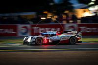 Qualifying Stephane Sarrazin (FRA) / Mike Conway (GBR) / Kamui Kobayashi (JPN) driving the LMP1 Toyota Gazzo Racing Toyota TS050 - Hybrid 24hr Le Mans 15th June 2016