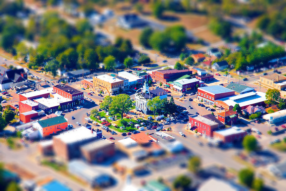 Paoli Town Square Aerial