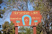 Horseshoe Lake Signage At El Dorado Regional Park