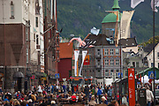 Bryggen, the Wharf, in Bergen, Norway