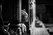 Ratna Vokto Shrestra (75), I saw her sitting alone most of the times. Kathmandu, Nepal.
