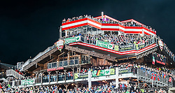 26.01.2016, Planai, Schladming, AUT, FIS Weltcup Ski Alpin, Schladming during the 2nd run of men's Slalom Race of Schladming FIS Ski Alpine World Cup at th, im Bild Blick auf die Hohenhaus Tenne // View of the Hohenhaus Tenne with Spectors reacts after his 2nd run of men's Slalom Race of Schladming FIS Ski Alpine World Cup at th Planai in Schladming, Austria on 2016/01/26. EXPA Pictures © 2016, PhotoCredit: EXPA/ Johann Groder