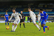 Tyler Roberts (11) of Leeds United  crosses the ball during the Premier League match between Leeds United and Brighton and Hove Albion at Elland Road, Leeds, England on 16 January 2021.