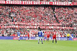 30.04.2011, Allianz Arena, Muenchen, GER, 1.FBL, FC Bayern Muenchen vs FC Schalke 04 , im Bild Fanaktion , EXPA Pictures © 2011, PhotoCredit: EXPA/ nph/  Straubmeier       ****** out of GER / SWE / CRO  / BEL ******