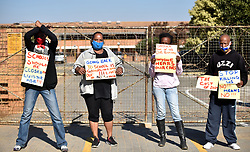 South Africa - Pretoria - 06 July 2020 - A handful of concerned parents picket outside Prosperitus Secondary School calling for total shutdown amidst the Coronavirus peak.<br /> <br /> Picture: Thobile Mathonsi/African News Agency(ANA)