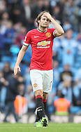 Daley Blind of Manchester United dejected - Barclays Premier League - Manchester City vs Manchester Utd - Etihad Stadium - Manchester - England - 2nd November 2014  - Picture David Klein/Sportimage