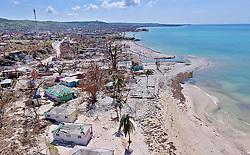 The damaged beachfront hotel Reposoir du Village in Port Salut, Haiti, on October 11, 2016. Photo by Patrick Farrell/Miami Herald/TNS/ABACAPRESS.COM
