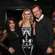 Lili Rose, Larissa Eddie and Richard Cutmore attend BBC1 All Together Now Series 1 Cast Members, fright night at The London Bridge Experience & London Tombs on 28 October 2018, London, UK.