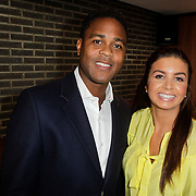 NLD/Ridderkerk/20120222 - Presentatie Helden, Patrick Kluivert en partner Rosanna Lima