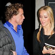 NLD/Amsterdam/20120209 - Bn' ers gefotografeerd als de Nachtwacht voor het Goed Geld Gala 2012, Micheal Boogerd en partner Darya Nucci