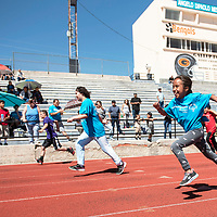 Athletes compete in the 50 meter run at the Angelo DiPaolo Memorial Stadium for the Area 6 Special Olympics, Saturday, May 4 in Gallup. This is a qualifying event for Special Olympics at state in Albuquerque May 31- June 2.