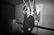 16/11/1966<br /> 11/16/1966<br /> 16 November 1966<br /> O'Brien Plastics Ltd., Bishopstown, Cork reception at the Intercontinental Hotel, Dublin to announce that Phillips Petroleum Company, Oklahoma U.S.A had acquired a 50% interest in O'Brien Plastics. Picture Shows Taoiseach Jack Lynch T.D. addressing the reception.