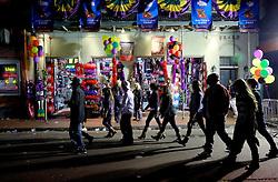 03 Feb 2013. New Orleans, Louisiana USA. .Bourbon Street. A tourist trinket shop sells wares to visitors..Photo; Charlie Varley