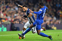 West Bromwich Albion's Matt Phillips is tackled by Everton's Ashley Williams