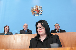 Clerk of the Court sits in front of Sheffield Magistrates'