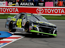 September 30, 2018 - Charlotte, NC, U.S. - CHARLOTTE, NC - SEPTEMBER 30: #48: Jimmie Johnson, Hendrick Motorsports, Chevrolet Camaro Lowe's for Pros during the running of the Inagural Bank of America ROVAL 400 on Sunday September 30, 2018 at Charlotte Motor Speedway in Concord North Carolina  (Photo by Jeff Robinson/Icon Sportswire) (Credit Image: © Jeff Robinson/Icon SMI via ZUMA Press)