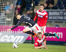 Falkirk's Rory Loy and Brechin City's Gary Fusco. <br /> Falkirk 2 v 1 Brechin City, Scottish Cup fifth round game played today at The Falkirk Stadium.