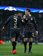 Emilio Izaguirre of Celtic and Erik Sviatchenko of Celtic have an exchange of views during the Champions League Group C match at the Etihad Stadium, Manchester. Picture date: December 6th, 2016. Pic Simon Bellis/Sportimage