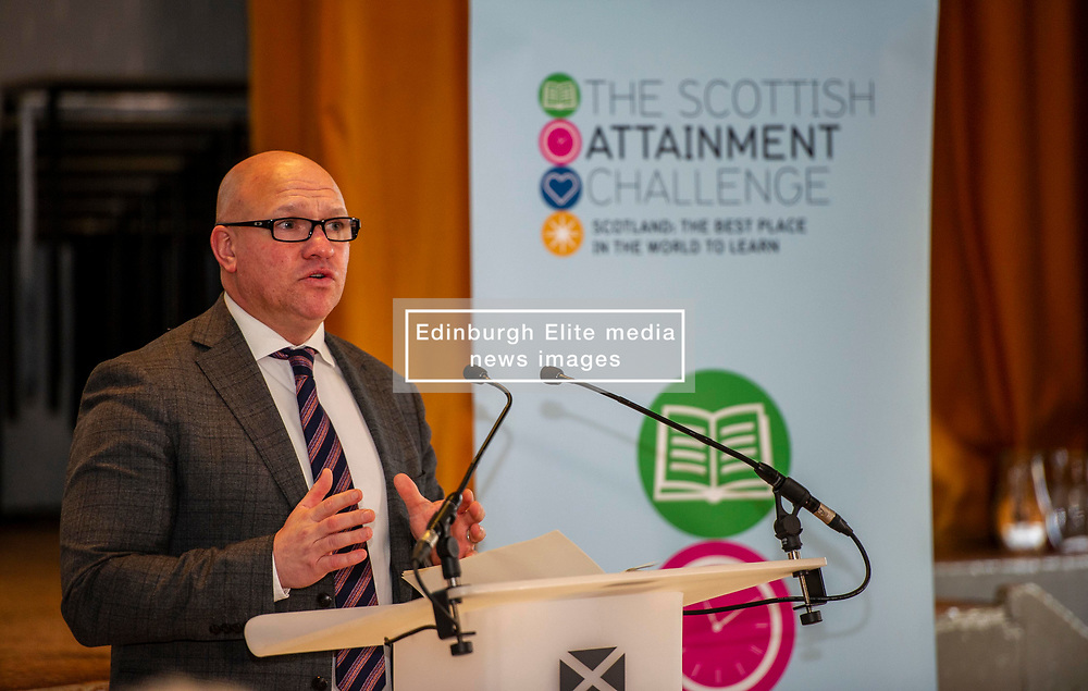 Pictured: David Young, WHEC head teacher  <br /> <br /> Education Secretary, John Swinney, MSP, addressed more than 100 teachers and education leaders, as he provided an update on the terms of reference for a review of the curriculum, in a speech marking five years of the Scottish Attainment Challenge.<br /> <br /> Ger Harley | EEm 26 February 2020