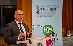 Pictured: David Young, WHEC head teacher  <br /> <br /> Education Secretary, John Swinney, MSP, addressed more than 100 teachers and education leaders, as he provided an update on the terms of reference for a review of the curriculum, in a speech marking five years of the Scottish Attainment Challenge.<br /> <br /> Ger Harley   EEm 26 February 2020