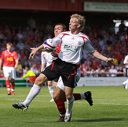 Crewe, England - Saturday, July 14, 2007: Liverpool's Dirk Kuyt in action against Crewe Alexandra during a pre-season friendly at Gresty Road. (Photo by David Rawcliffe/Propaganda)