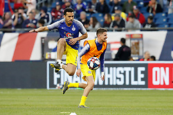 May 15, 2019 - Foxborough, MA, U.S. - FOXBOROUGH, MA - MAY 15: Chelsea FC forward Pedro (11) warms up before the Final Whistle on Hate match between the New England Revolution and Chelsea Football Club on May 15, 2019, at Gillette Stadium in Foxborough, Massachusetts. (Photo by Fred Kfoury III/Icon Sportswire) (Credit Image: © Fred Kfoury Iii/Icon SMI via ZUMA Press)