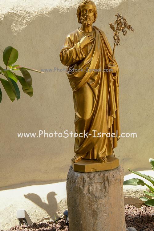 Israel, Nazareth, Statue of St. Joseph in the grounds of the Casa Nova pilgrims hostel
