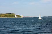 Halifax, Nova Scotia, George's Island & Lighthouse. National Historic Site.