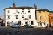 The Bull Inn, Market Hill, Woodbridge, Suffolk, England, UK historic town hotel
