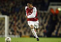 Fotball<br /> Carling Cup<br /> Arsenal v Wolverhampton 5-1<br /> 02.12.2003<br /> Jeremie Aliadiere - Arsenal<br /> Foto: Anders Hoven, Digitalsport