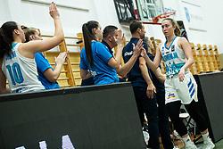 Annamaria PREZELJ of Slovenia with teammates during basketball match qualifications for European Championship, round 1, between national teams Slovenia and Greece in Arena Celje - Center, 14. November, Ljubljana, Slovenia. Photo by Grega Valancic / Sportida