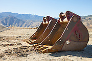 Heavy Equipment Excavator Buckets on the Job Site