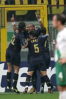 Milano 14/9/2004 Champions League Matchday 1<br /> <br /> Inter Werder Bremen 2-0 <br /> <br /> Adriano festeggia il gol del vantaggio per l'Inter<br /> <br /> Adriano celebrates first goal for Inter<br /> <br /> Foto Andrea Staccioli Graffiti